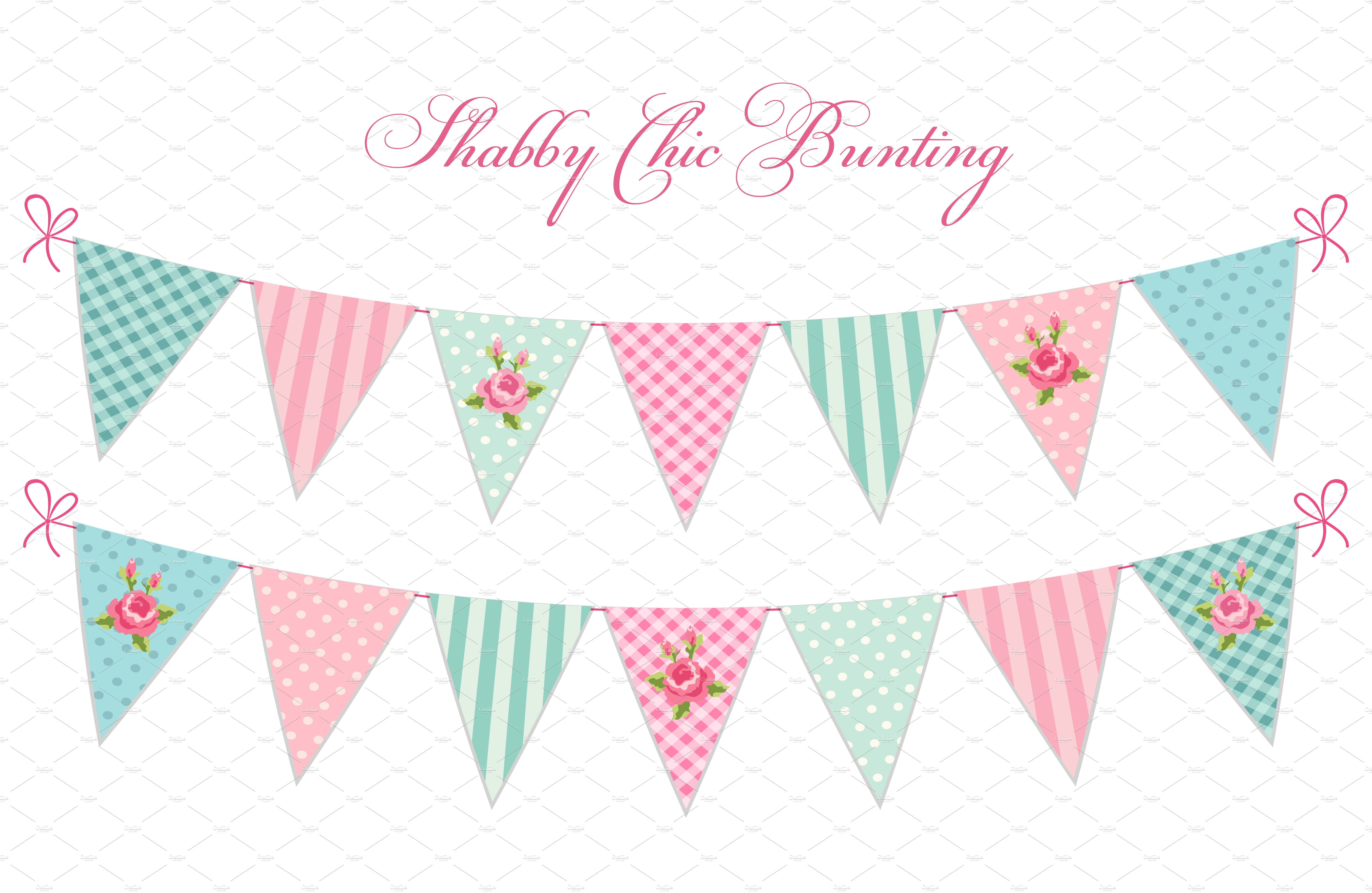 shabby chic bunting - photo #20