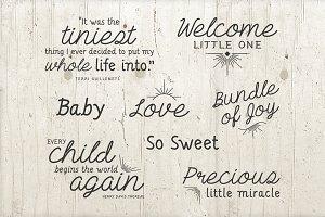 8 Baby Phrase Quote Photo Overlays