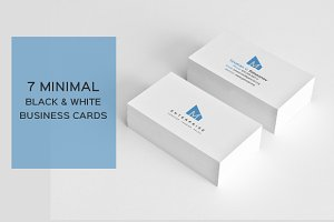 7 Minimal Black&White Cards