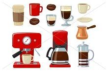 Coffee maker, take away, beans