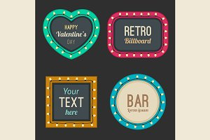 Retro light frames