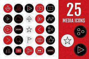 50 Media Icons