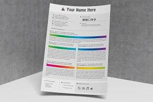 Artist CV template