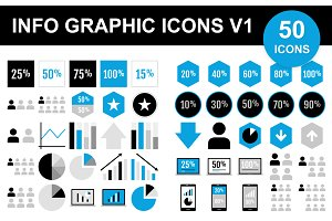 50 Info Graphic Icons V1