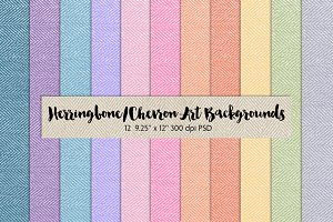 Herringbone/Chevron Art Backgrounds