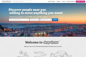 Service site PSD template