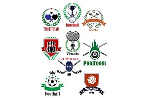 Team sports heraldic badges or logo