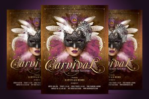 Carnival Mask Party Flyer