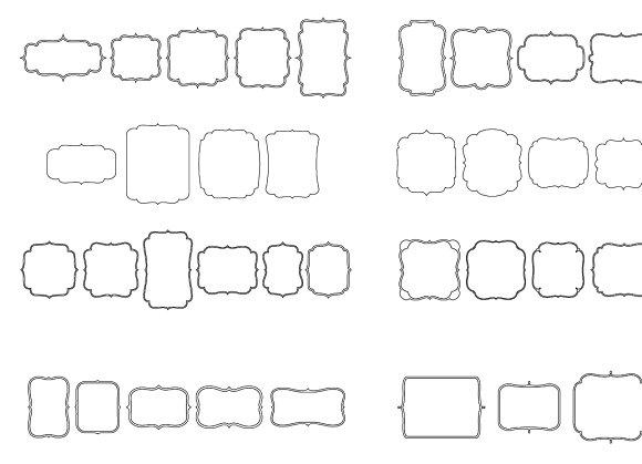 67 Classic Frames-Vector+AI Symbols ~ Illustrations ~ Creative Market