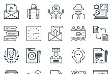 Business and Workflow icon set