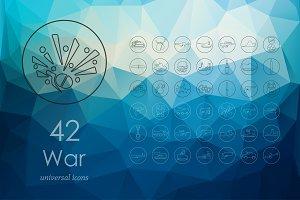 42 war line icons