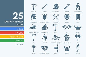 25 knight and war icons