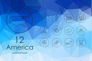 12 United States icons