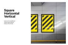 3x Subway poster mockup bundle by  in Mockups