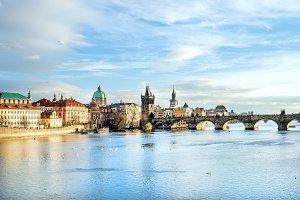 The view of Charles bridge, Prague