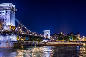 The view of Chain bridge, Budapest