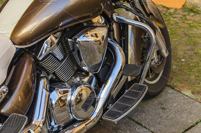 Shiny motorbike engine.jpg - Transportation