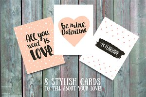 Love cards and lettering
