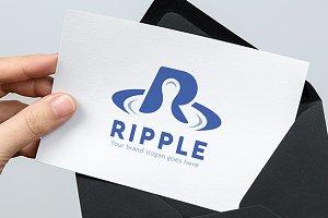 Ripple R Letter Logo