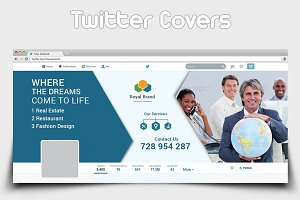 Multipurpose Business Twitter Covers