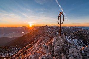 Captivating sunset at mountain top