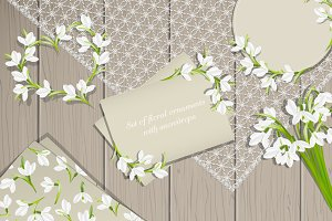 Floral Ornaments With Snowdrops
