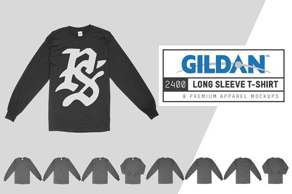 Black Long Sleeve T Shirt Mockup