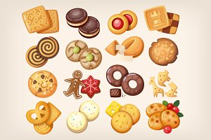Collection of delicious cookies