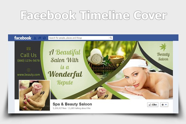 Spa & Beauty Salon Facebook Covers