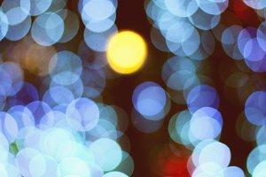 Night bokeh of Christmas lights