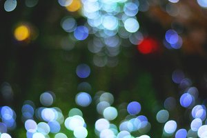 Night bokeh of Christmas lights