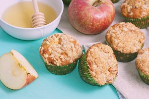 Home made apple spiced muffins