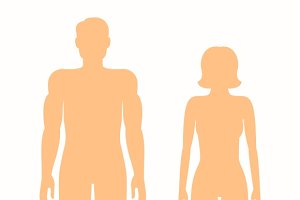 Human silhouettes of man and woman