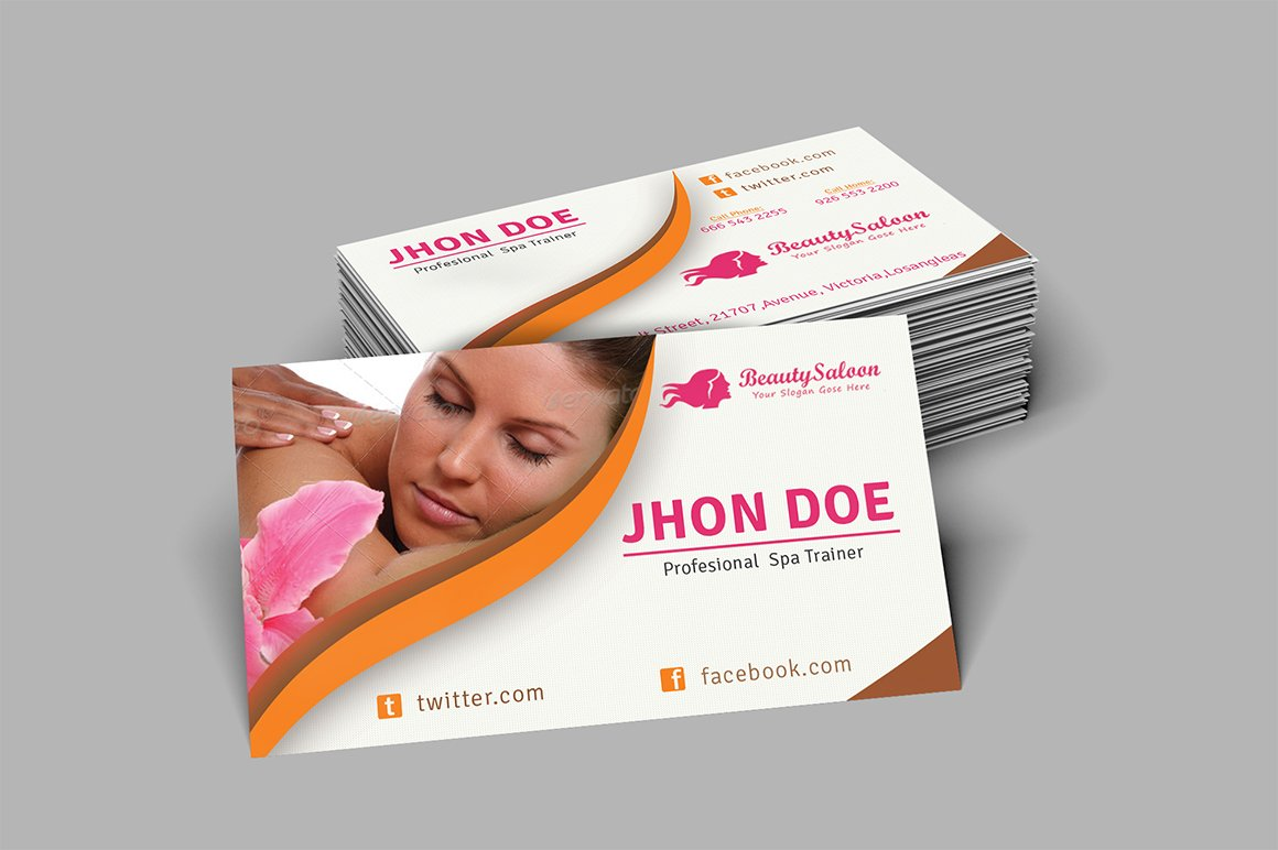 Spa beauty salon business card business card templates spa beauty salon business card business card templates creative market magicingreecefo Images