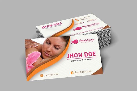 Spa Beauty Salon Business Card Business Card Templates - Beauty salon business cards templates free