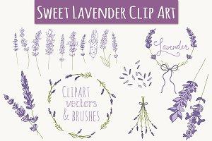 Lavender Clip Art & Vectors