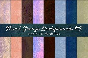 Floral Grunge Backgrounds #3