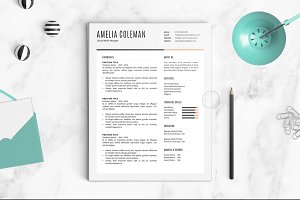 Resume Template | The Amelia