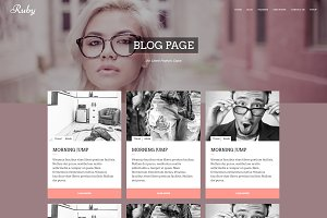 RUBY - Creative Wordpress Theme