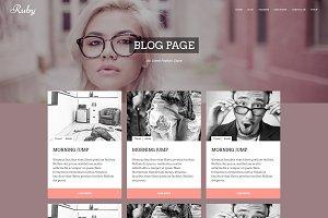 RUBY - Creative Wordpress Theme