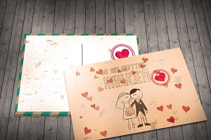 Wedding Invitation Postcard
