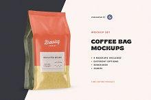 Coffee Bag Mockup Set by  in Mockups