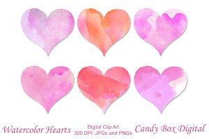 Valentine Watercolor Heart Clip Art