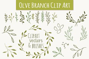 Olive Branch Clip Art & Vectors