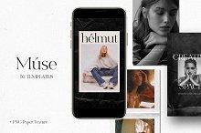 50 Paper Instagram Templates + BONUS