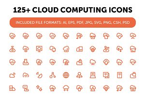125+ Cloud Computing Icons Set