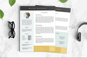Resume Template | The Whitney 3pk