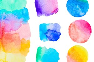 colorful watercolor set