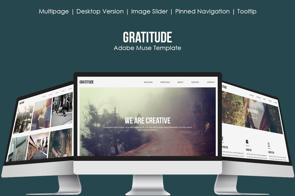 Gratitude Muse Template Website Templates Creative Market - Adobe muse website templates