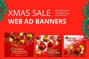 Merry Christmas & Xmas Web Ad Banner